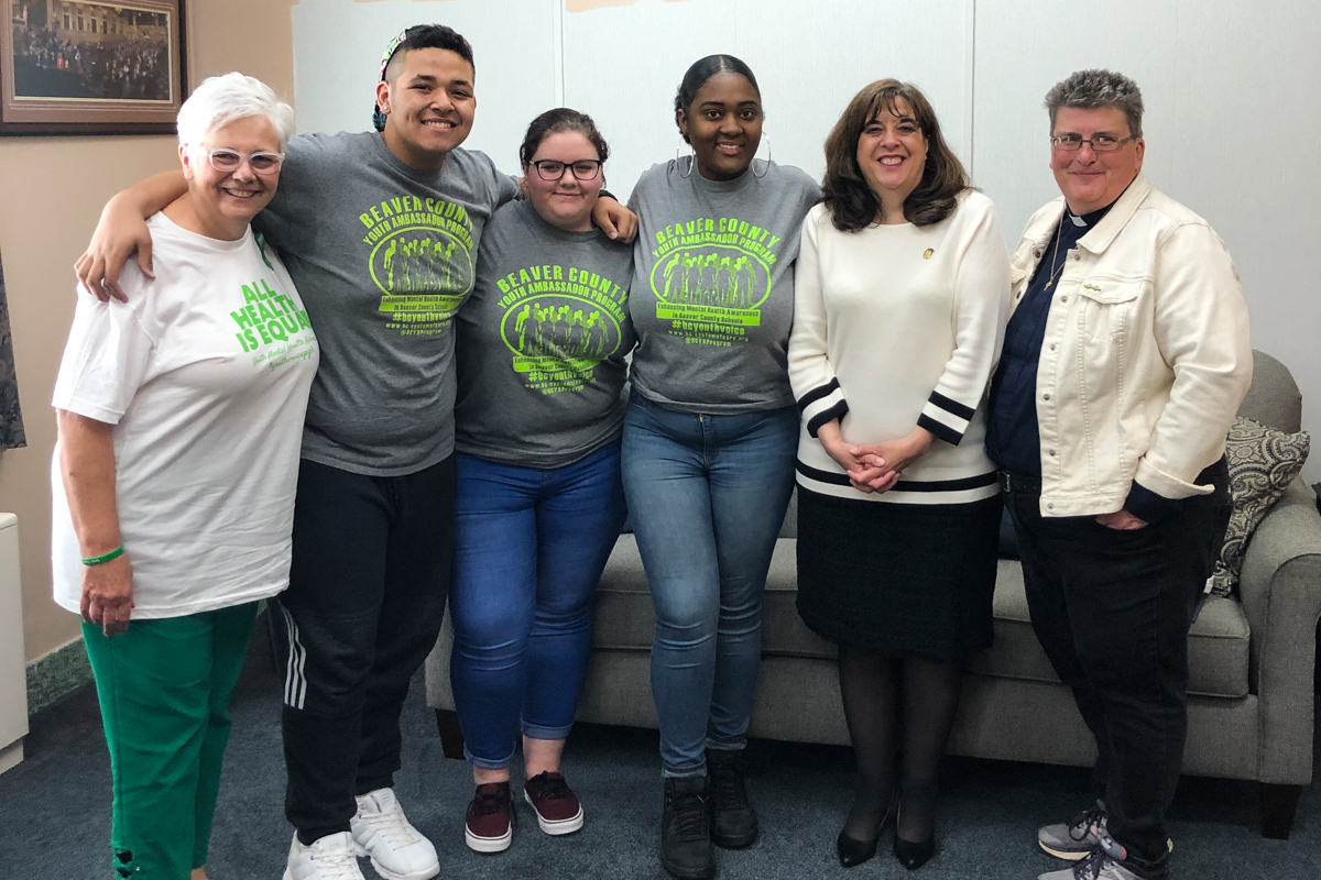 Youth mental health advocates meet with Representative Anita Astorino Kulik on May 6.