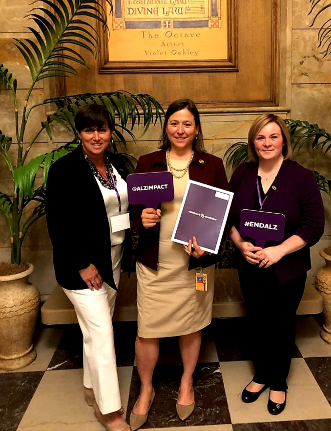 Joni Shenck, Alzheimer's Association of Greater PA Chapter, Representative Valerie Gaydos, and Anneliese Perry.