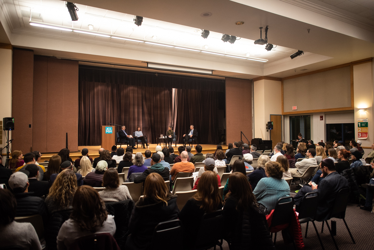 Over 100 guests attended the event at the Jewish Community Center in Pittsburgh.