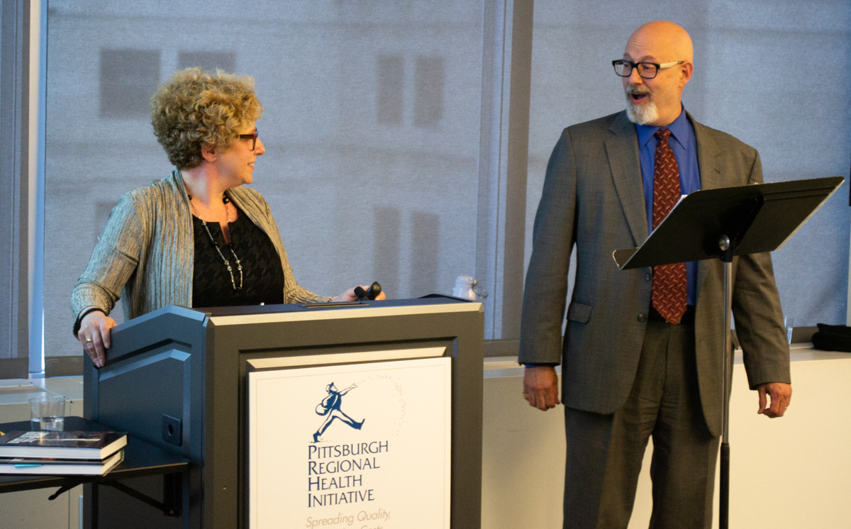 Nancy Zionts, COO and Chief Program Officer at JHF, and her husband, Leon Zionts, at the PRHI 20th Anniversary Celebration on June 19, 2018.