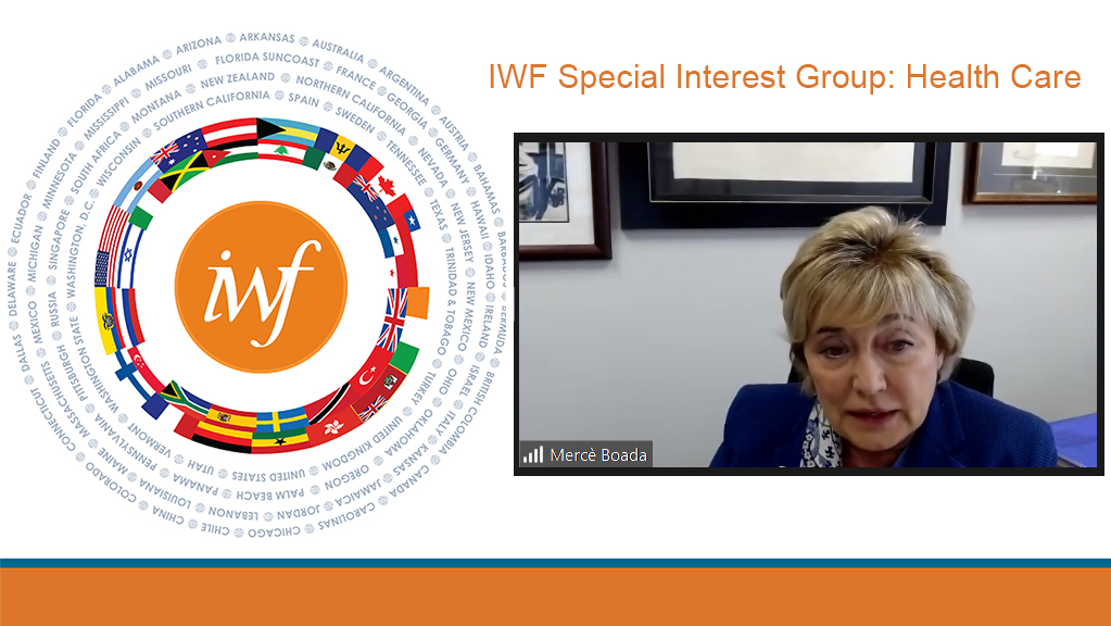 Dr. Mercè Boada presents during the IWF Special Interest Group meeting.